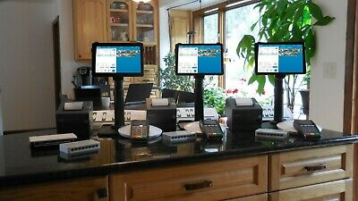POS System; Point of Sale; Restaurant; Revel iPad POS; 3 stations