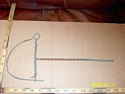 Vintage Twisted Wire Smoke / Tobacco House Hanger