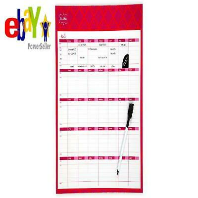 Mead Organizher Write 'N Wipe Monthly Undated Dry-Erase Calendar, 15 X 12 Inches