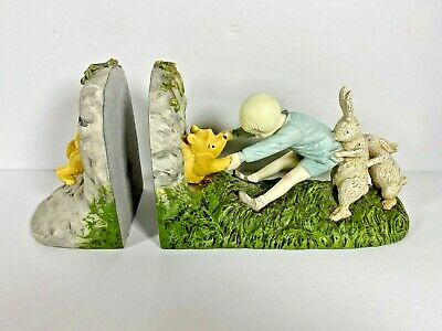 Disney Classic Winnie the Pooh Stuck in Rabbit Hole Book Ends Bookends