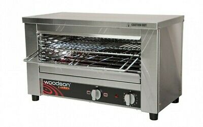 Woodson W.GTQI8 - Multi-Function 8 Slice Glass Element Toaster Griller