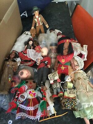 Box Of North american/Mexican Dolls