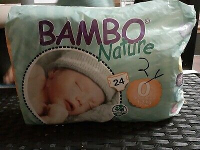 Bamboo Nature Diapers Size 0 Preemie 16pc