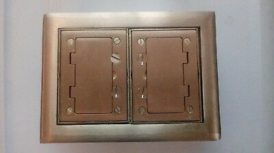 Hubbell Brass Double Gang Floor Box Covers and plates