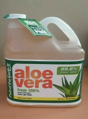 99.8% Pure Aloe Vera from 100% hand cultivated inner gel fillet  - 1 Gallon