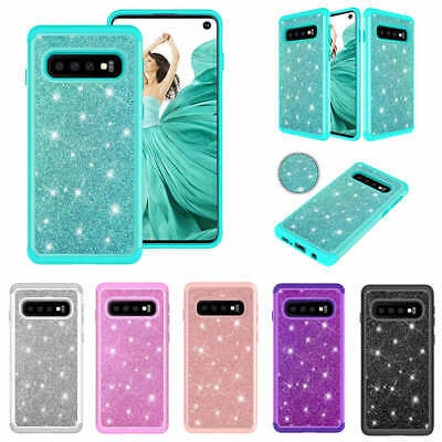 For Samsung Galaxy S10 S9 S8 Plus Shockproof Bling Hybrid Heavy Duty Case Cover