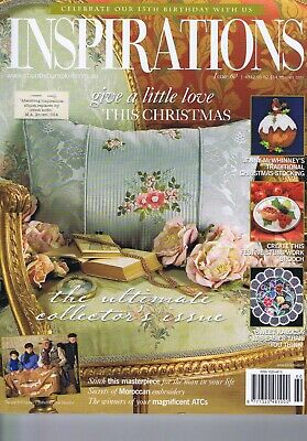 INSPIRATIONS Embroidery Magazine 60 Stumpwork Bullion Hungary Morocco Christmas