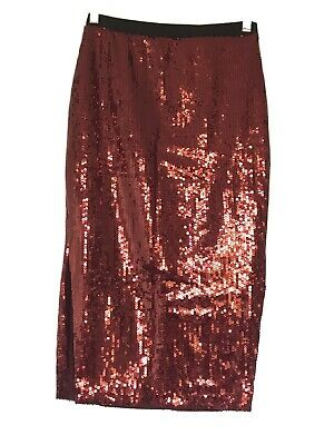 BNWOT Witchery 4Red Sequin Pencil Skirt