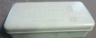 Vintage Brother Sewing Machine Accessories & box