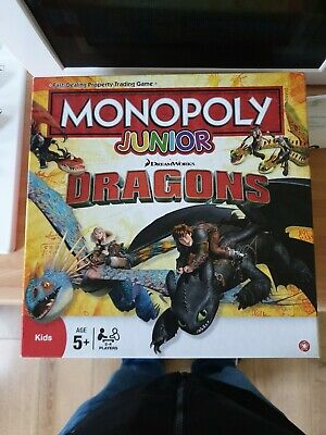 Winning Moves DreamWorks Dragons Monopoly Junior Board Game