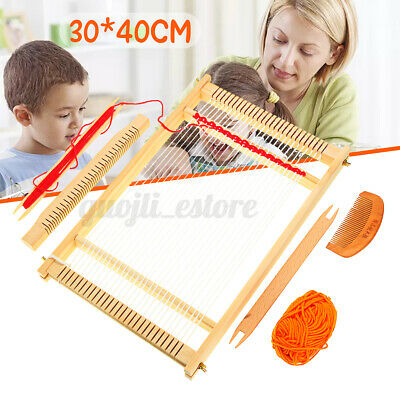 Wooden Weaving Loom Machine Play Toy Kids Girl DIY Knitting Craft Comb Ball