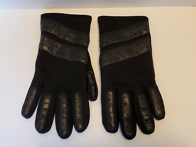 Thinsulate Insulated Fleece Lined Winter Men's Black Leather Gloves - Thermal