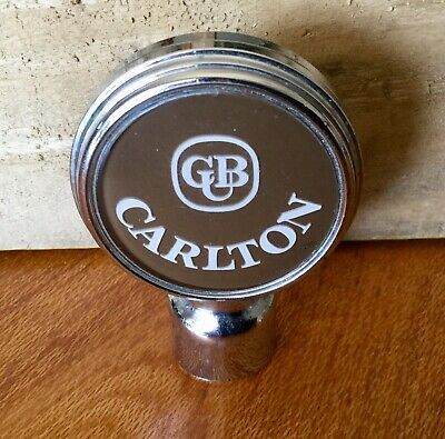 Carlton CUB. Early Brown. Original Vintage Beer Tap Handle / Tap Top.
