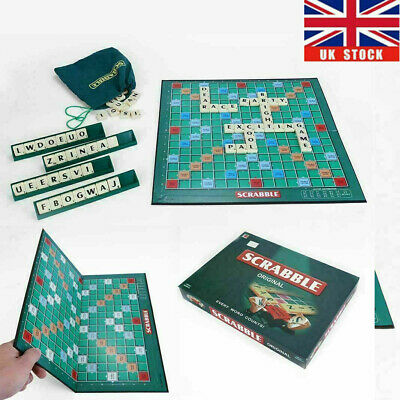 Family Original Scrabble Game Kid Adult Educational Learning Party Game Board ①