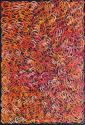 Gracie Morton Pwerle, Authentic Aboriginal Art.Size, 90cm x 60cm, Bush Plum