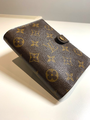 Authentic Louis Vuitton Small Ring Agenda Cover Monogram Canvas + Free Shipping