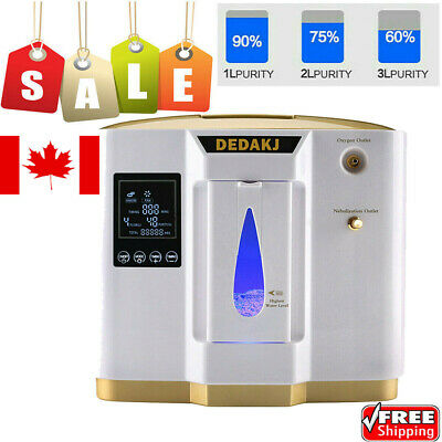 1-6L/Min Oxy Concentrator O2 Machine Air Generator OXY Air Purifier Efficient US