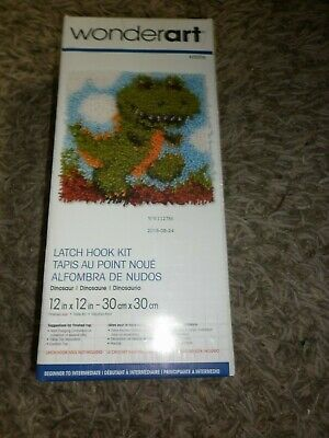 Latch Hook Wonderart Kit Dinosaur Still In Packet