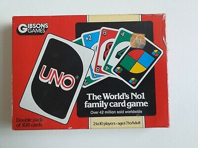 Vintage UNO Family Card Game by Gibsons Games