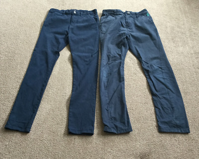 NEXT & TU Two Pairs of Boys Trousers Slacks ~ 12 years Height 152cms