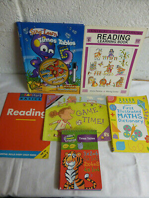 Childrens Educational Home Schooling Books 5-7yrs - Times Tables, Maths, Reading
