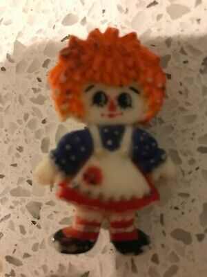"1.75/"" Rare VHTF Vintage 1978 Raggedy Ann /& Andy Stick Pin Set Bobbs Merrill Co"