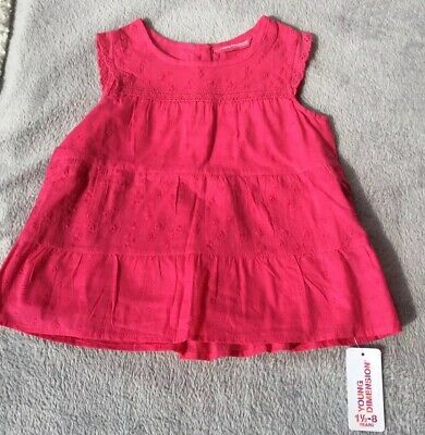 primark girls 3-4 Hot Pink Top Bnwt