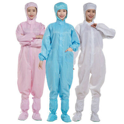 Unisex Disposable Coveralls Full Body Overall Gown Isolation Protective Suits
