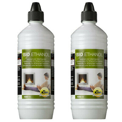 2 Liter High-Performance Bio Ethanol in 1 Liter Flaschen