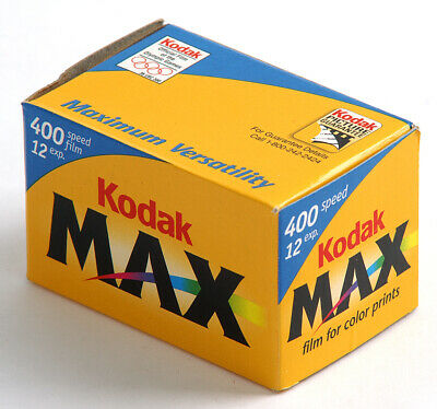 10 Rolls Kodak Max 400 Color Print Film 35mm 12 Exp  05/02 & 09/01Freezer Stored