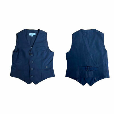 Hugo Boss Kids Childrens Boys Smart Navy Lined Slim Fit Waistcoat Size 5 6 8