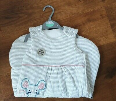 Girls 0-6month 2.5tog New Sleeping Bag Mouse & Bunny rabbit