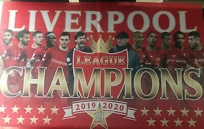 LIVERPOOL FC League champions 2019/2020 Large FLAG 3.5ft X 2ft