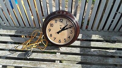 Smiths bakelite electric clock vintage