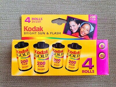 Expired film Kodak Gold 200 4x 24 exp. Unopened. 35mm film good for lomography.