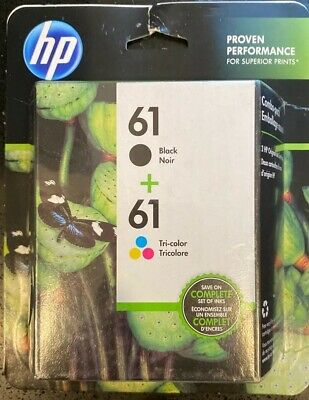 *BRAND NEW SEAL* HP Original Ink 61 2-Pack *Black+Tri-Color FAST+FREE SHIPPING!*