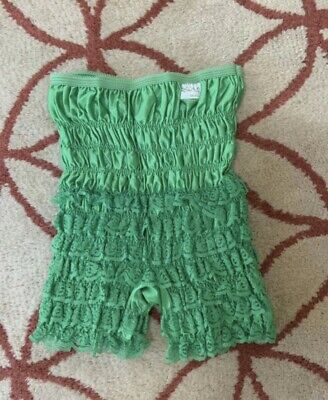 Vintage 1970s Malco Modes Partners Please Green Ruched Lace Bloomers Pettipants