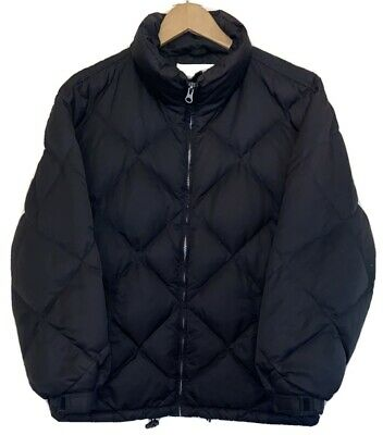 VTG Womens EDDIE BAUER EB Goose Down Jacket Puffer Coat Black Small S Sm VINTAGE