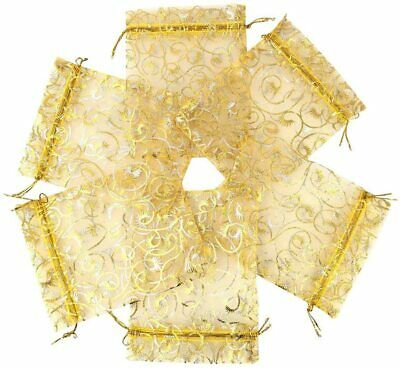 50X Organza Gift Bags Jewelry Candy Bags Wedding Favors Bags Mesh Gifts Pouch/_wu