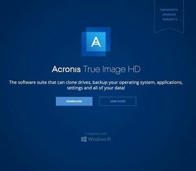 Acronis True Image HD Fast Delivery Back-up Cloning SSD Restore PC Lifetime Key