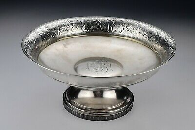 Tiffany Sterling Silver Footed compote  with Cherubs and Grapes 23.94 troy