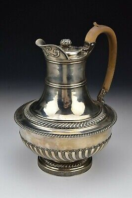 English Sterling Silver Armorial Pot By John Rich London Hallmarks Date 1817