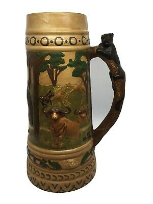 Vintage Holland Mold Ceramic  Beer Stein 13""