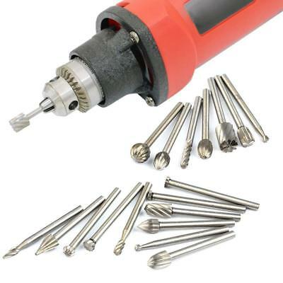 High Speed Steel Burr Rotary Drill Bits Wood Metal Carving Grinding Tool  IT