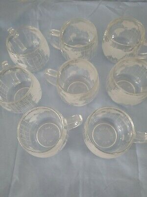 Vintage Nestle 1970s Around the World Cups - Coffee Cups Set of 8