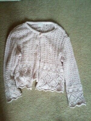 = Girls Pink Glittery Cardigan Age 4 From Next =