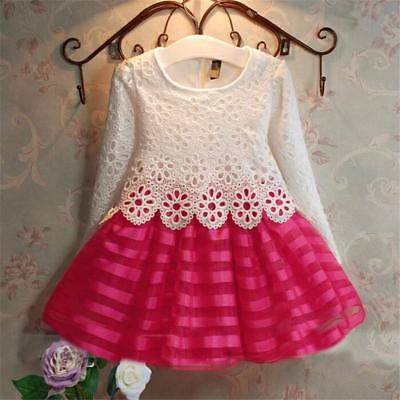 Toddler Kids Baby Girls Lace Dress Party Prom Bridesmaid party dress 4T 5T 6 7