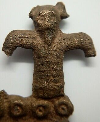 Bronze Art Anthropomorphic Tinderbox / Fire Striker 800-1200AD. Viking Rus Idol