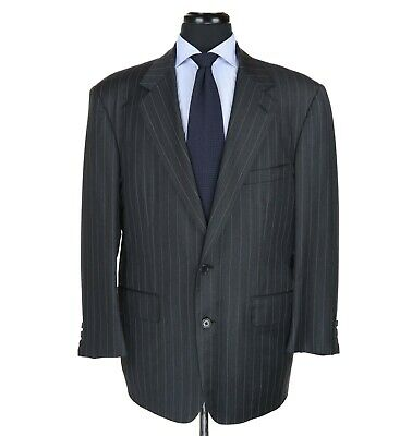 Brooks Brothers Golden Fleece 100% Wool Suit Gray w/Gray Stripes Men's Size 44S