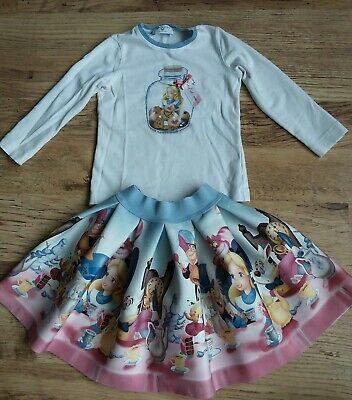 monnalisa alice in wanderland outfit..skirt and top